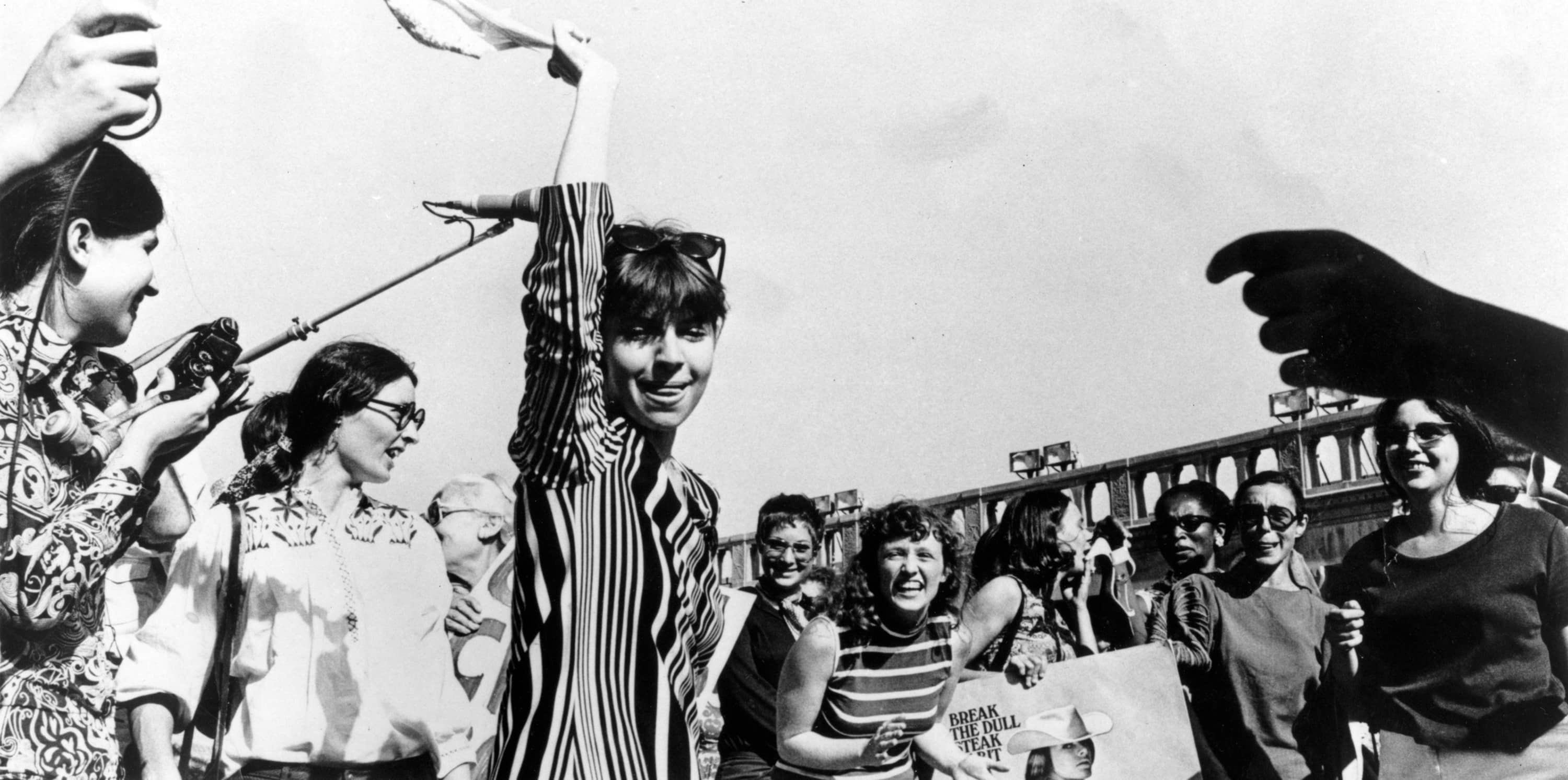 Robin Morgan - Activism - Miss America Pageant Protest, Atlantic City, 1968